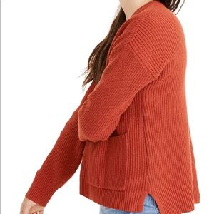 Madewell Patch Pocket Pullover in Bright Ember (L)